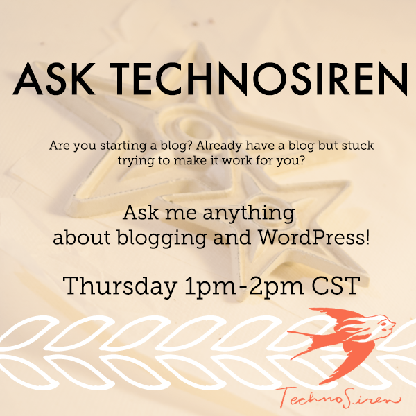 Ask me anything about WordPress and blogging on Google Hangout Thursday, Apr 2nd 2015 at 1pm CST.